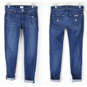 Hudson Colin Flap Pocket Skinny Jeans Med Wash